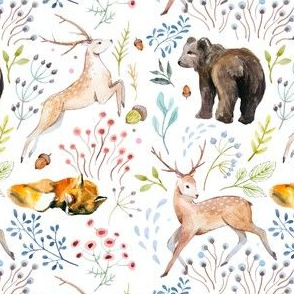 "5.25"" Wandering Around / Deer, Fox & Bear"