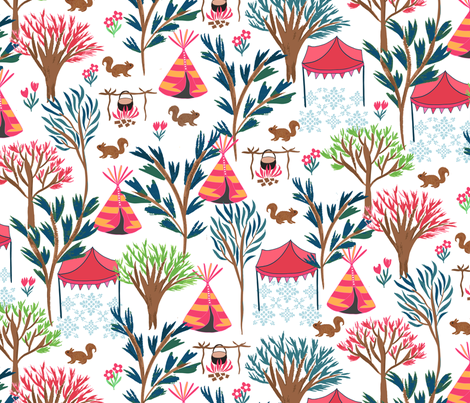 Summer Cookout Camp fabric by jill_o_connor on Spoonflower - custom fabric