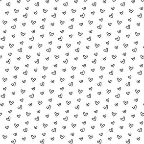 daydreamer black and white tiny hearts