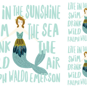 1 blanket + 2 loveys: sparkle mermaids aqua // no lines