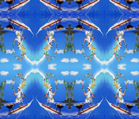 Hawaiian Summer Cookout fabric by kedoki on Spoonflower - custom fabric
