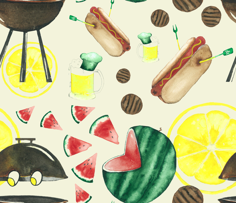 Eat me for Fun under Summer Sun fabric by dunia on Spoonflower - custom fabric