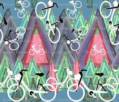 Biking Mtn Forest blue