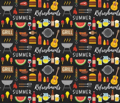 Summer Cookout fabric by malibu_creative on Spoonflower - custom fabric