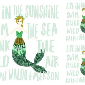 1 blanket + 2 loveys: sparkle mermaids mint // no lines