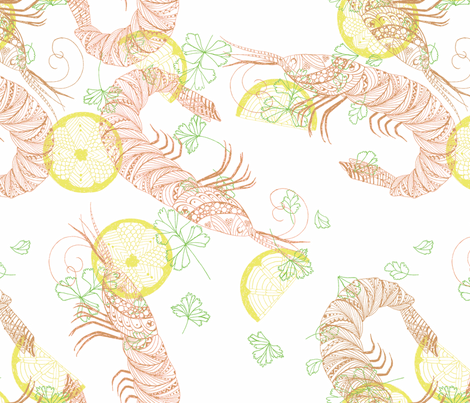 Grilled Shrimp fabric by amor_bright_designs on Spoonflower - custom fabric