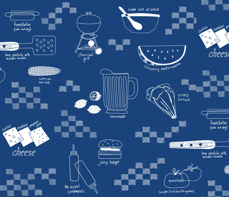 Jenny's Cookout fabric by chris_jorge on Spoonflower - custom fabric