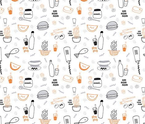 doodle cookout fabric by anita_prints on Spoonflower - custom fabric