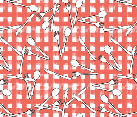 Please Set The Table fabric by mrshervi on Spoonflower - custom fabric