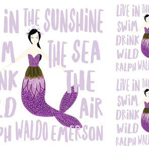 1 blanket + 2 loveys: sparkle mermaids purple // no lines