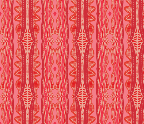 Pink Boho Waves fabric by nettieandliz on Spoonflower - custom fabric