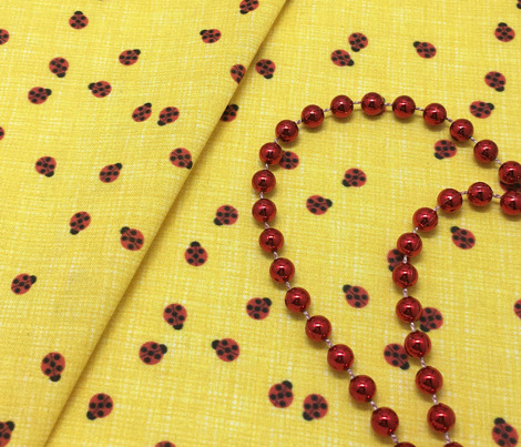 Ladybugs - Yellow on White