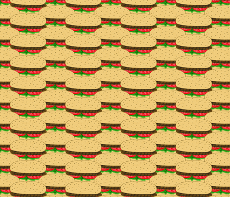 All American Hamburgers, Medium fabric by palifino on Spoonflower - custom fabric