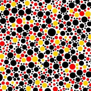 Yellow Cheetah Dots Coordinate