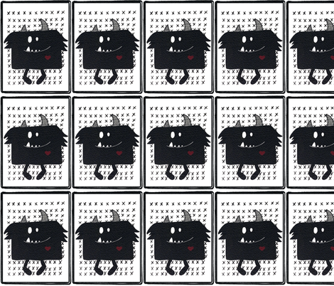 monster monochrome fabric by andmonstertoys on Spoonflower - custom fabric