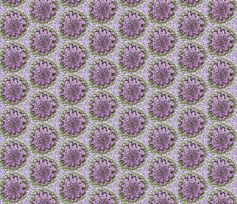 dottie lace posies ll/lavender fabric by unclemamma on Spoonflower - custom fabric