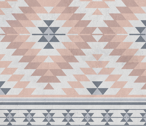 kilim blush grey fabric by delinda_graphic_studio on Spoonflower - custom fabric