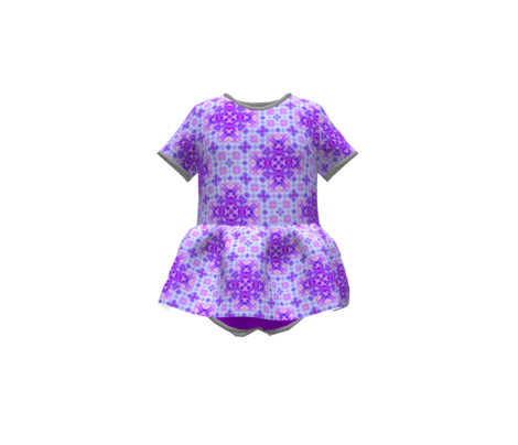 Dainty Tie Dye Purple Crosses
