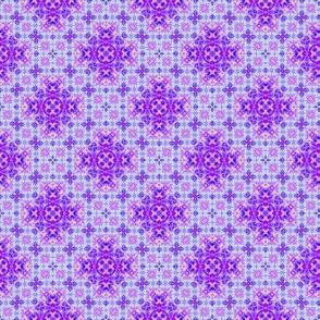 Dainty Tie Dye Purple Crosses