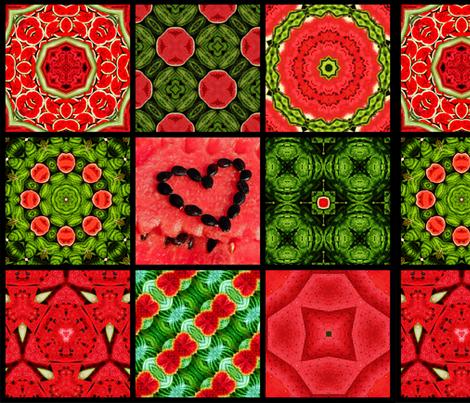 Watermelon dream fabric by snarets on Spoonflower - custom fabric