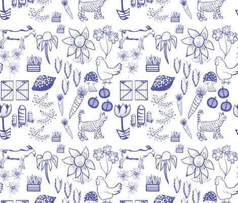 Monochromatic Farm fabric by casey_belle_ on Spoonflower - custom fabric