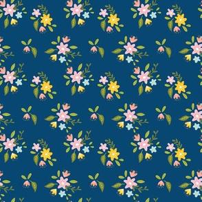 Navy Petite Floral