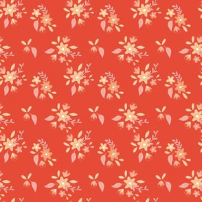 Red Petite Floral
