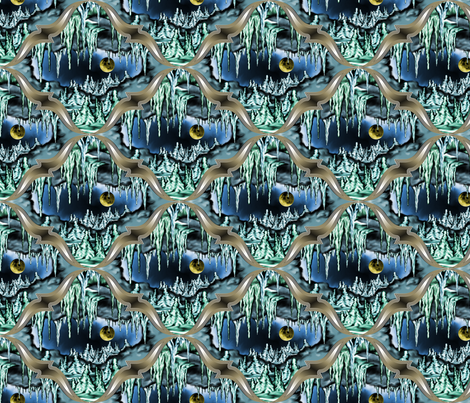 Moon in the Cavern fabric by enid_a on Spoonflower - custom fabric