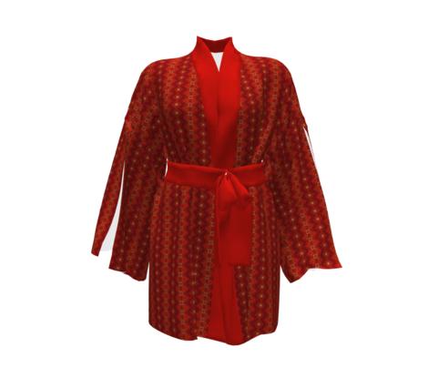 Warm African Batik Tie Dye