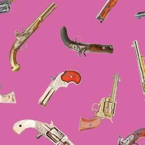 Antique Pistols on Peony // Large