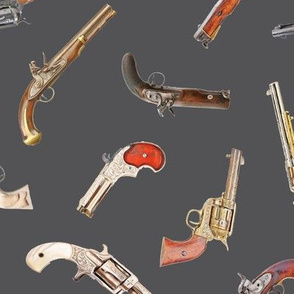 Antique Pistols on Charcoal // Large