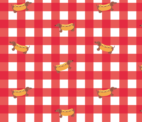 Hot Dog fabric by alexpond on Spoonflower - custom fabric