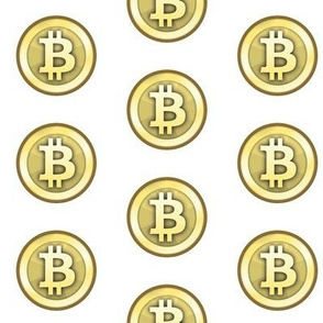 "2"" Gold Bitcoins"