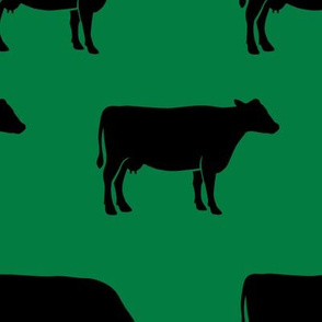 large scale - cows on green (black) C18BS