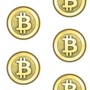 "3"" Gold Bitcoins"