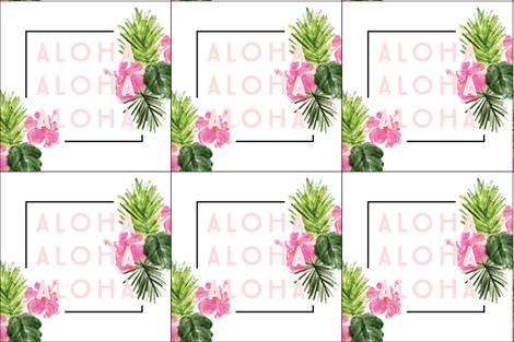 6 loveys: aloha fabric by ivieclothco on Spoonflower - custom fabric