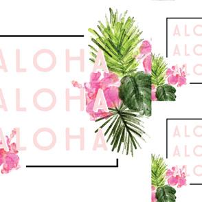 1 blanket + 2 loveys: aloha // no lines