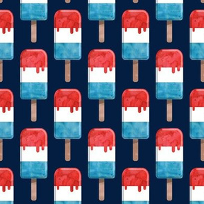 red white and blue popsicle - stars and stripes (navy) - July 4th