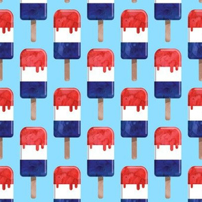 red white and blue popsicle - stars and stripes - July 4th