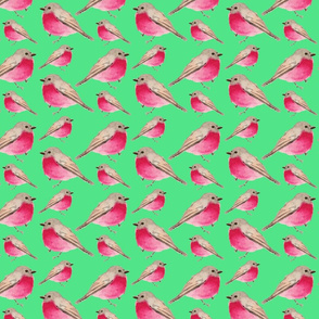 BIRDS ON MINT SEAMLESS TILE