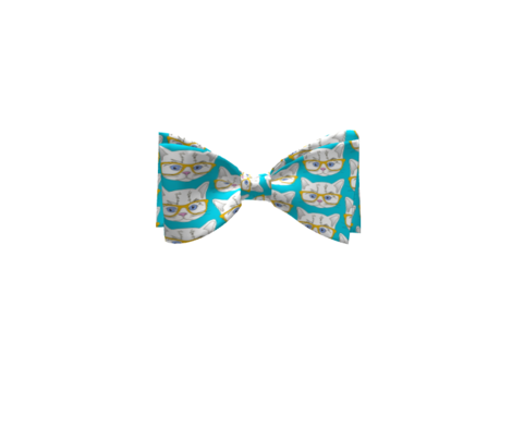 Hipster Kitten Turquoise Blue Small