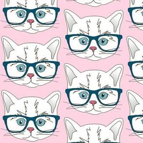 Hipster Kitten Pastel Baby Pink