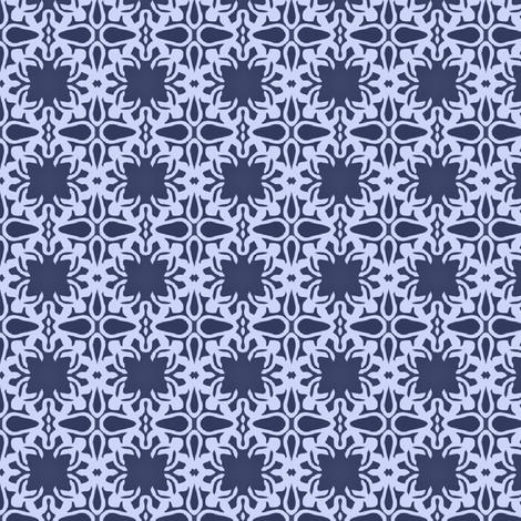 Raina, Quatrefoil, Navy and Blue, Small fabric by palifino on Spoonflower - custom fabric