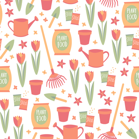 How Does Your Garden Grow? (Pastel) fabric by robyriker on Spoonflower - custom fabric