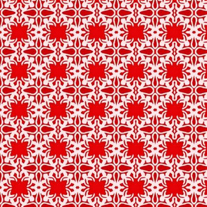 Raina, Quatrefoil, Red and Pink, Small