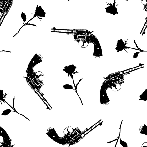 Guns & Roses // Large fabric by thinlinetextiles on Spoonflower - custom fabric