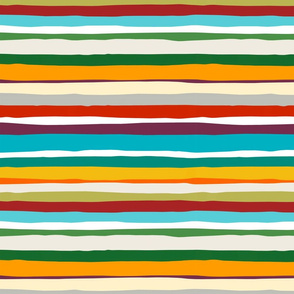 Hazy Summer Days Horizontal Stripe 12x12 horizontal