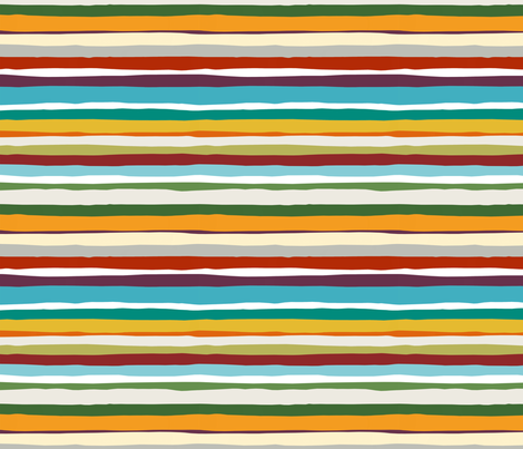 Hazy Summer Days Horizontal Stripe 8x8  fabric by stitchyrichie on Spoonflower - custom fabric