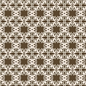 Raina, Quatrefoil, Brown and Cream, Small