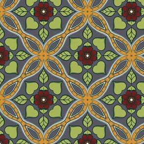 Floral Grid Tiles